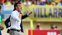 Luis Enrique led the team to victory at El Madrigal / PHOTO: MIGUEL RUIZ - FCB