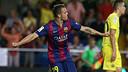 Sandro scored the winner on Sunday evening at El Madrigal / PHOTO: MIGUEL RUIZ - FCB