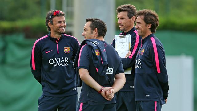 Luis Enrique in a training session. PHOTO: MIguel Ruiz - FCB