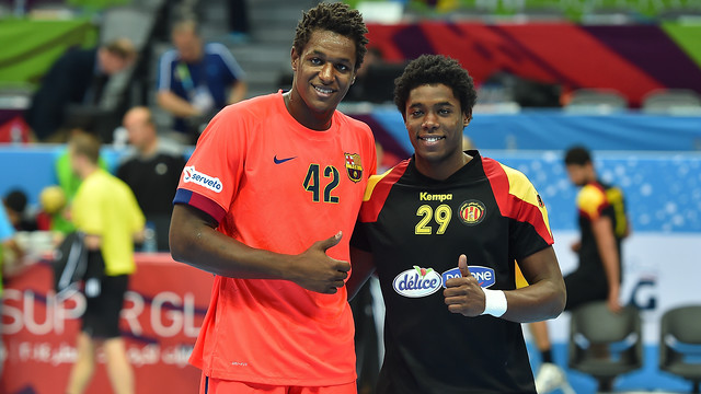 Jallouz with his brother who plays in Esperance / PHOTO: Super Globe 2014