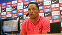 Adriano was speaking in the pressroom at the Ciutat Esportiva Joan Gamper / FOTO: MIGUEL RUIZ-FCB