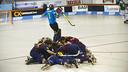 Los jugadores celebran el gol de oro de Pablo Álvarez / FOTO: VÍCTOR SALGADO - FCB