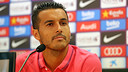 Pedro was speaking to the press after Monday training. PHOTO: MIGUEL RUIZ-FCB.
