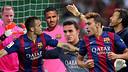Ter Stegen, Sandro Ramírez, Douglas, Masip, Munir, and coach Luis Enrique / PHOTO: FCB