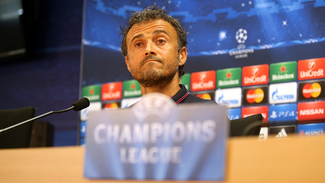 Luis Enrique was speaking before Wednesday's game with APOEL / PHOTO: MIGUEL RUIZ-FCB