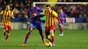 Leo Messi during last season's game at the Ciutat de València / PHOTO: MIGUEL RUIZ - FCB