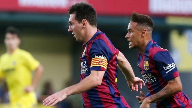Messi y Neymar, el día del partido con el Villarreal / FOTO: MIGUEL RUIZ-FCB