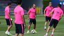 This morning's training session was intense. PHOTO: MIGUEL RUIZ - FCB