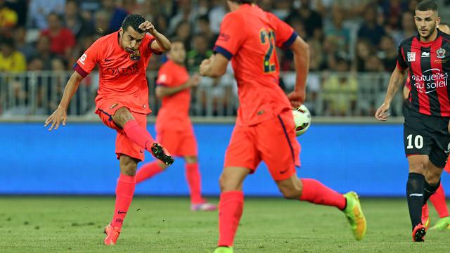 Pedro, en un partit de pretemporada. FOTO: MIGUEL RUIZ-FCB.