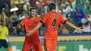 Messi i Rakitic, celebrant el 0-2 contra el Llevant. FOTO: MIGUEL RUIZ-FCB.