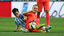 Iniesta i Juanpi. FOTO: MIGUEL RUIZ-FCB.