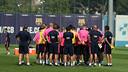 The squad in training last week/ PHOTO: MIGUEL RUIZ - FCB