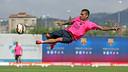 Alves, en un entrenamiento / FOTO: MIGUEL RUIZ