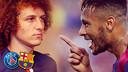 Felipe Luiz y Neymar. FOTOMONTAJE FCB