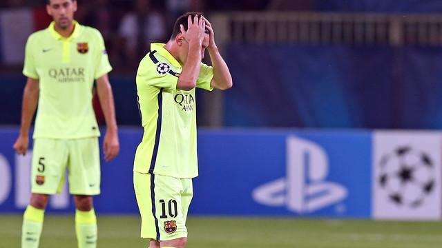 Messi, capcot a París / FOTO: MIGUEL RUIZ-FCB