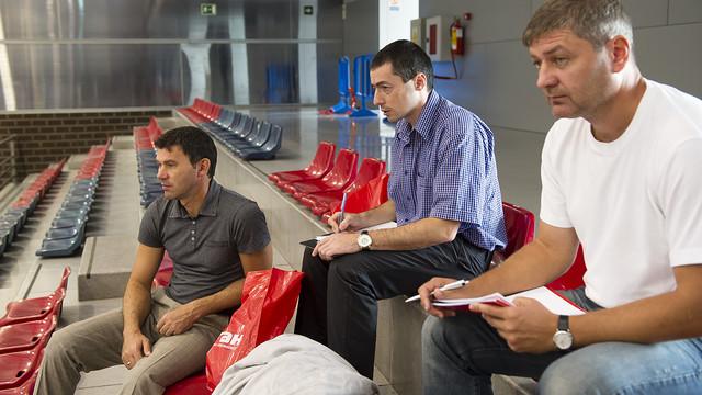 La delegació ucranïana a la Ciutat Esportitva