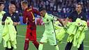 El Barça estrenó la tercera equipación en París / FOTO: MIGUEL RUIZ - FCB