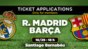 Members can apply for tickets for the Madrid game from October 7