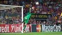Ter Stegen in action against APOEL. PHOTO: MIGUEL RUIIZ - FCB