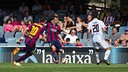Grimaldo hit the crossbar from a free kick / PHOTO: GERMÁN PARGA - FCB