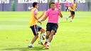 Pedro et Adriano pendant un entrainement / PHOTO: ARXIU FCB