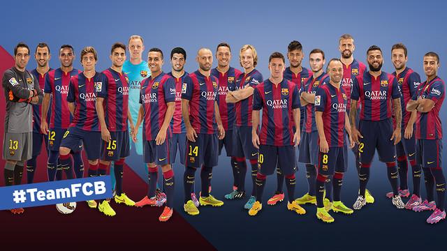 #TeamFCB Facebook players & FC Barcelona