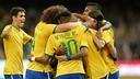 Le Brésil fête ses buts à Pekin/ PHOTO : CBF.COM