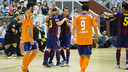 Barça made their experience count against a plucky Escola Pia / PHOTO: GERMÁN PARGA - FCB