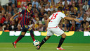 Neymar and Coke went head to head in last season's encounter at the Camp Nou / PHOTO: MIGUEL RUIZ - FCB