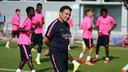 Eusebio, durante un entrenamiento / FOTO: ARCHIVO FCB