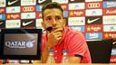Jordi Alba was speaking to the press on Thursday morning / PHOTO: MIGUEL RUIZ-FCB