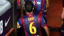 Xavi, en el partit contra l'Eibar / FOTO: MIGUEL RUIZ - FCB