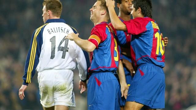 Gol de Frank de Boer. FOTO: ARCHIVO FCB.