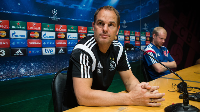 Frank de Boer was speaking at a press conference in Barcelona. PHOTO: GERMÁN PARGA-FCB.
