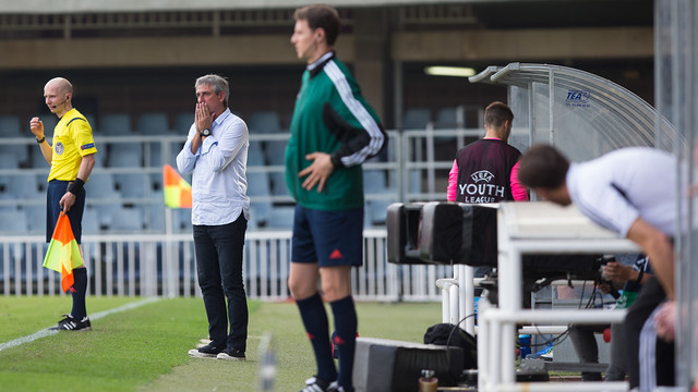 Jordi Vinyals ha vivido el partido con mucha intensidad