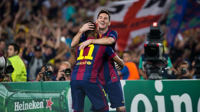 Messi i Neymar, en el partit contra l