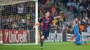 Leo Messi scored the second goal against Ajax / PHOTO: GERMAN PARGA - FCB