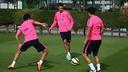 Sergio Busquets à l'entrainement / PHOTO: MIGUEL RUIZ - FCB