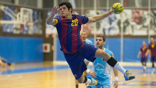 Beto Miralles, jugador del filial blaugrana. / FOTO:GERMAN PARGA-FCB