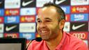 Jeudi, Iniesta a parlé du Clasico / PHOTO: MIGUEL RUIZ - FCB