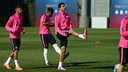 Luis Suárez trained with the rest of the players on Friday / PHOTO: MIGUEL RUIZ - FCB