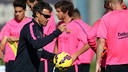 Luis Enrique during the training session at Ciutat Esportiva Joan Gamper / MIGUEL RUIZ - FCB