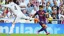 Luis Suarez fed Neymar on this play to make it 1-0 / PHOTO: MIGUEL RUIZ - FCB