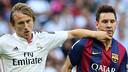 Modric i Messi, durant el partit / FOTO: MIGUEL RUIZ-FCB
