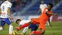 Kaptoum (Barça B), contra el Tenerife. FOTO: JUAN GARCÍA CRUZ (ACAN).