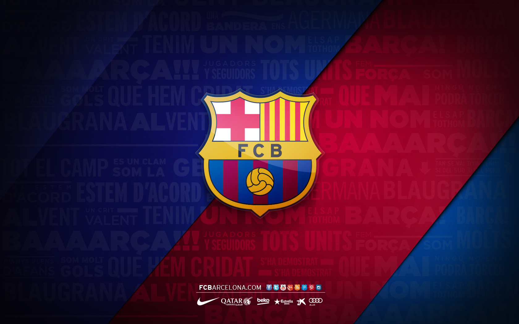 fcb crest 02 wallpaper fc barcelona
