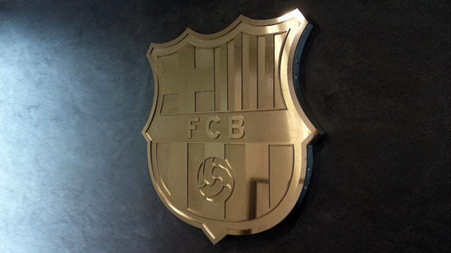 The FC Barcelona badge