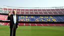 Gustau Biosca was photographed at the Camp Nou in 2007 / PHOTO: MIGUEL RUIZ - FCB
