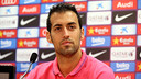 Sergio Busquets was speaking at a Monday morning press conference / PHOTO: MIGUEL RUIZ-FCB