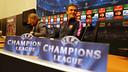 Luis Enrique at the press conference in the 'Amsterdam Arena / PHOTO: MIGUEL RUIZ - FCB